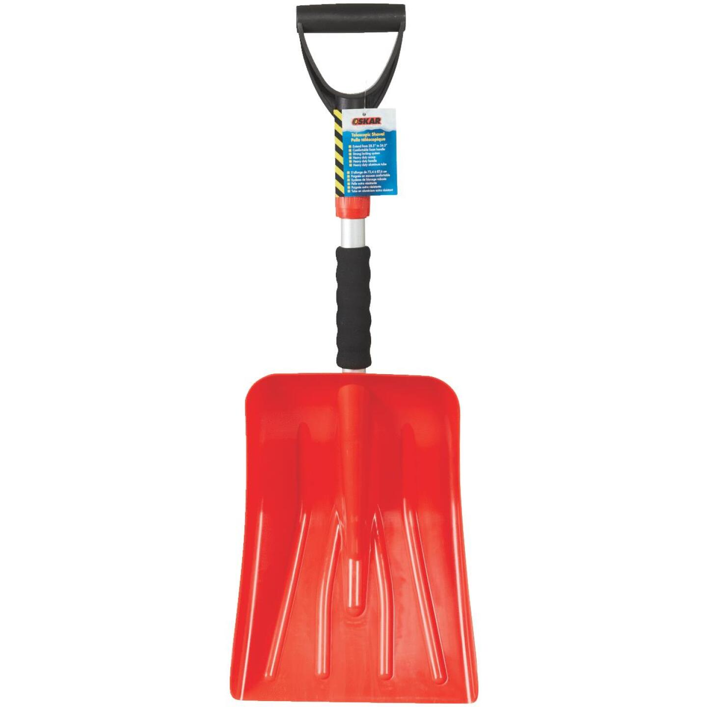 Oskar 9-1/2 In. Poly Emergency Automotive Snow Shovel with 30 In. Steel Handle Image 2