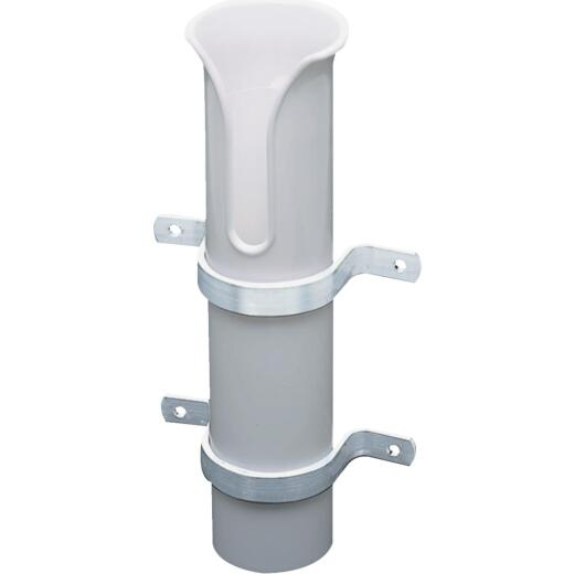 Seachoice White PVC Tube Side Mount Fishing Rod Holder
