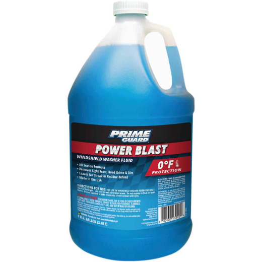 Prime Guard Power Blast 1 Gal. 0 Deg F Temperature Rating Windshield Washer Fluid with Antifreeze