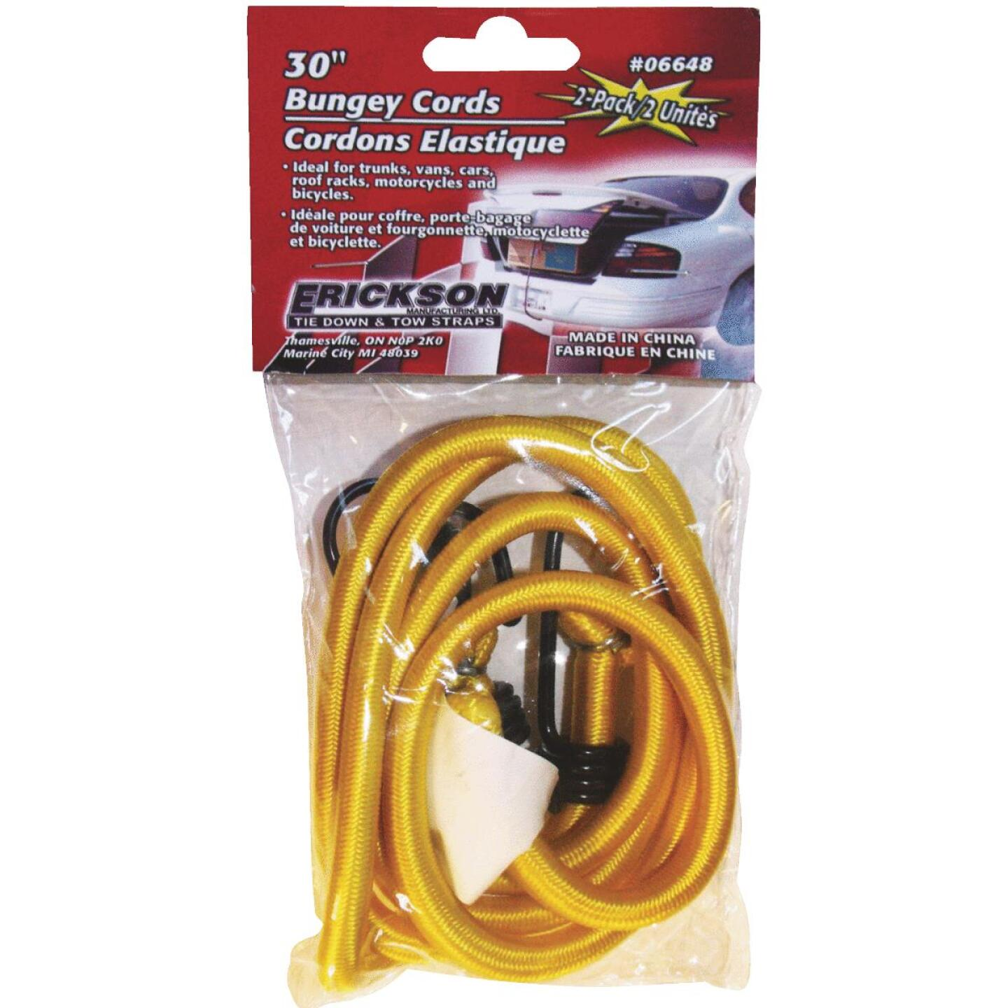 "Erickson 9mm x 30"" Vinyl Coated Steel Bungee Cord Set Image 2"