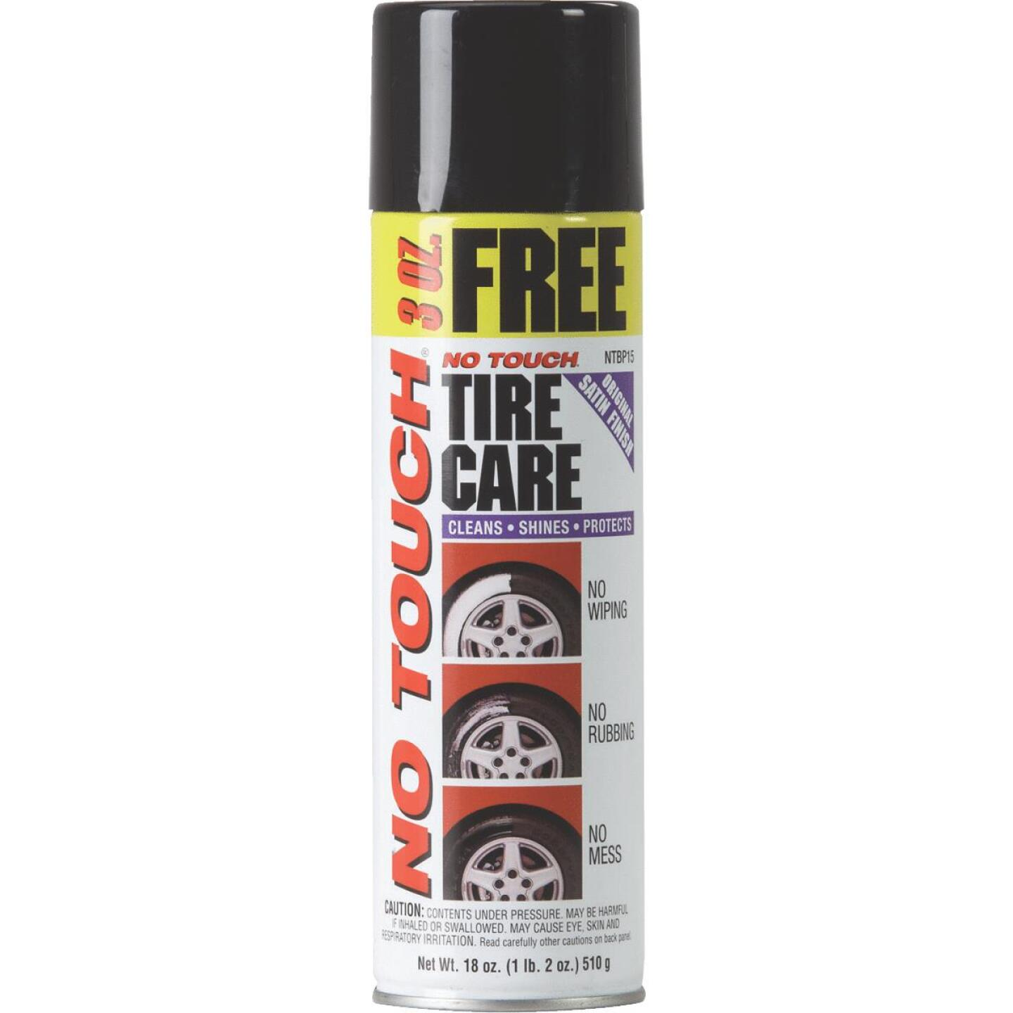 No Touch 18 Oz. Aerosol Spray Tire Cleaner Image 1