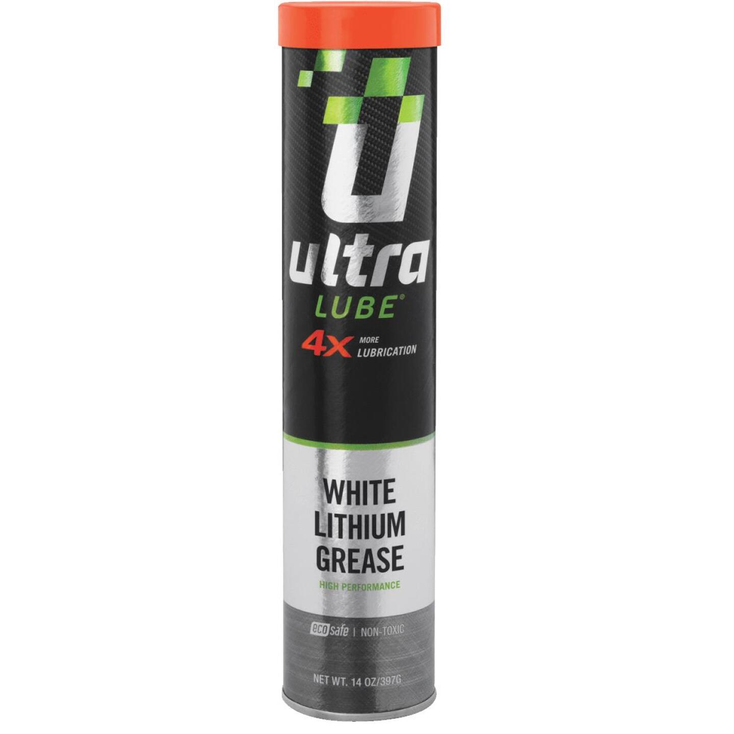 UltraLube 14 Oz. Cartridge White Lithium Grease Image 1
