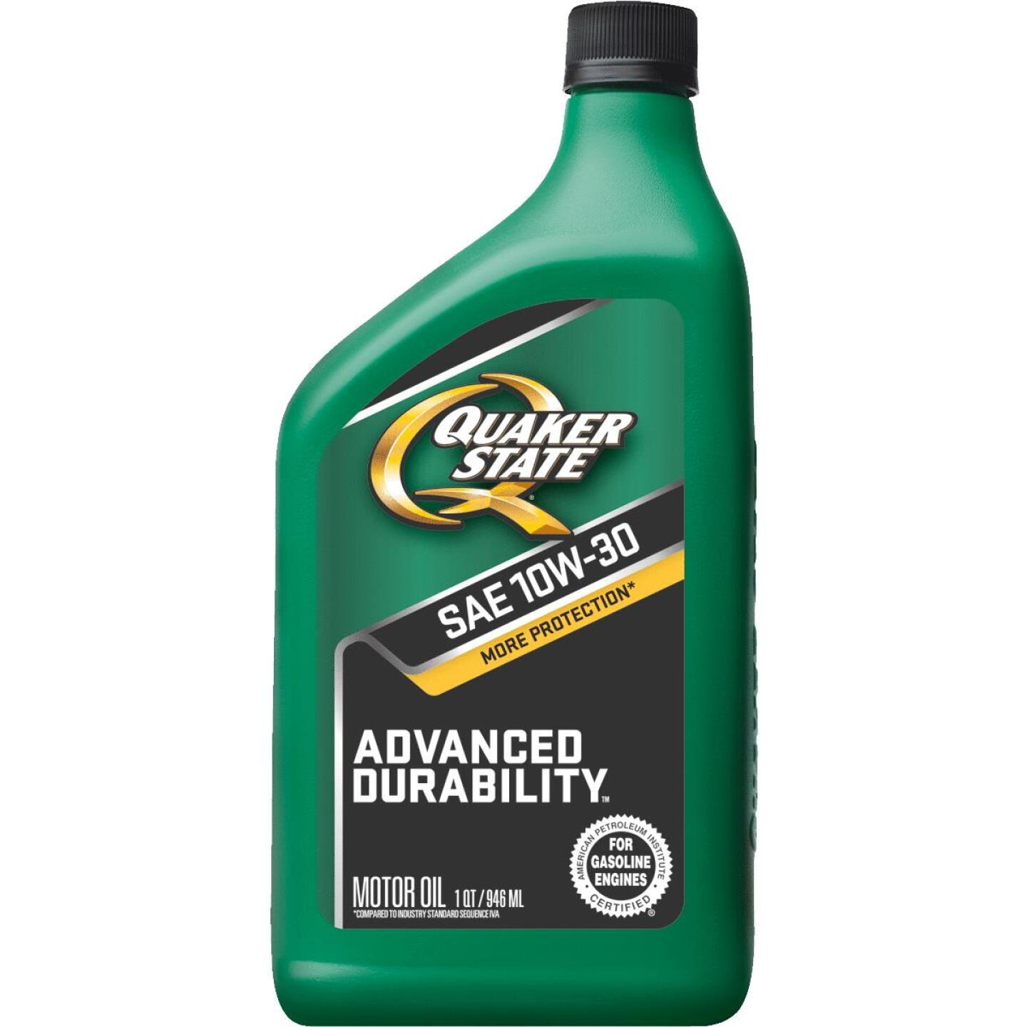 Quaker State Advanced Durability 10W30 Quart Motor Oil Image 1