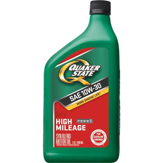 Quaker State 10W30 Quart High Mileage Synthetic Blend Motor Oil