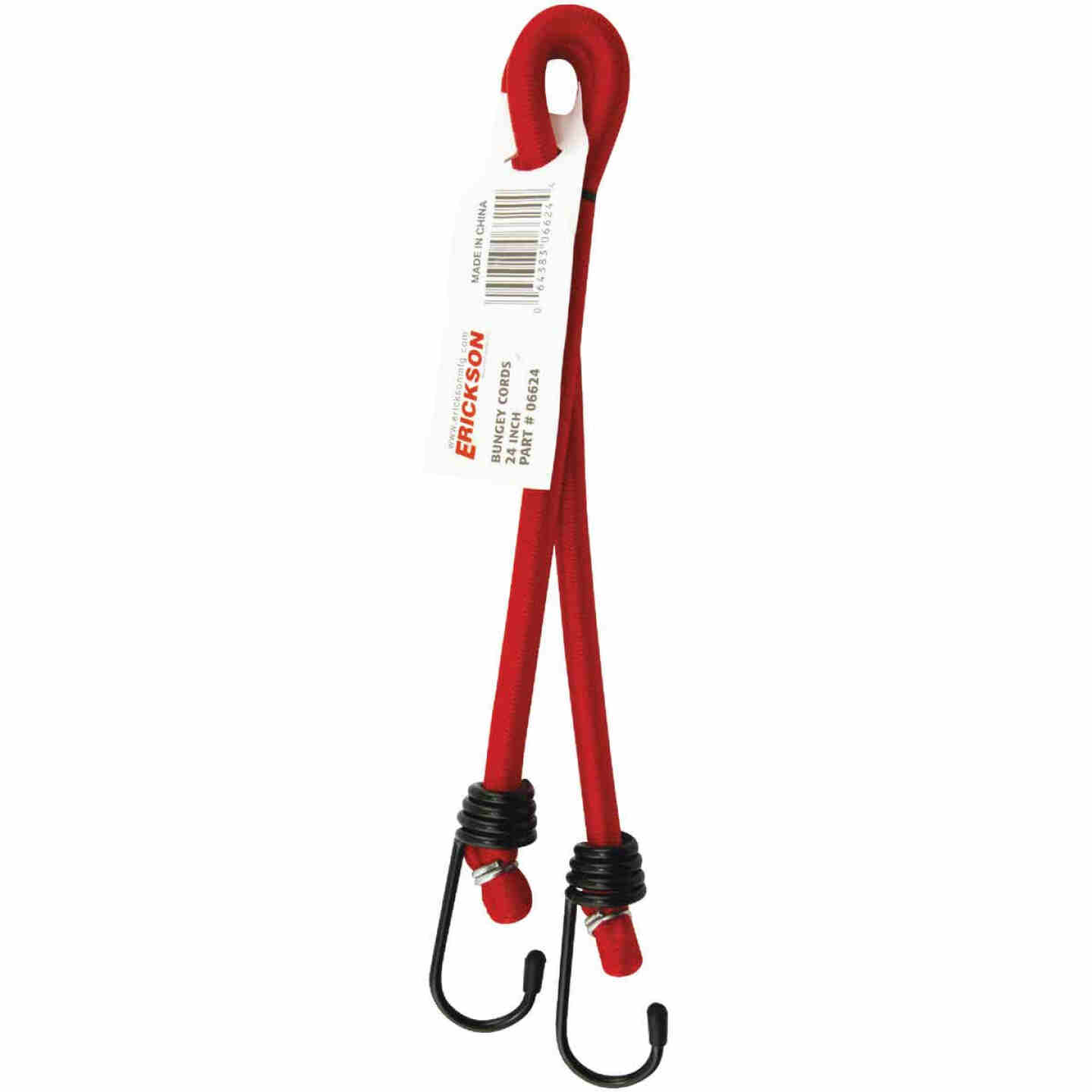 Erickson 1/4 In. x 24 In. Bungee Cord, Assorted Colors Image 2