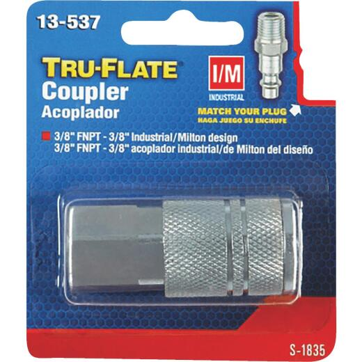 Tru-Flate Industrial/Milton Series Push-to-Connect 3/8 In. FNPT Coupler