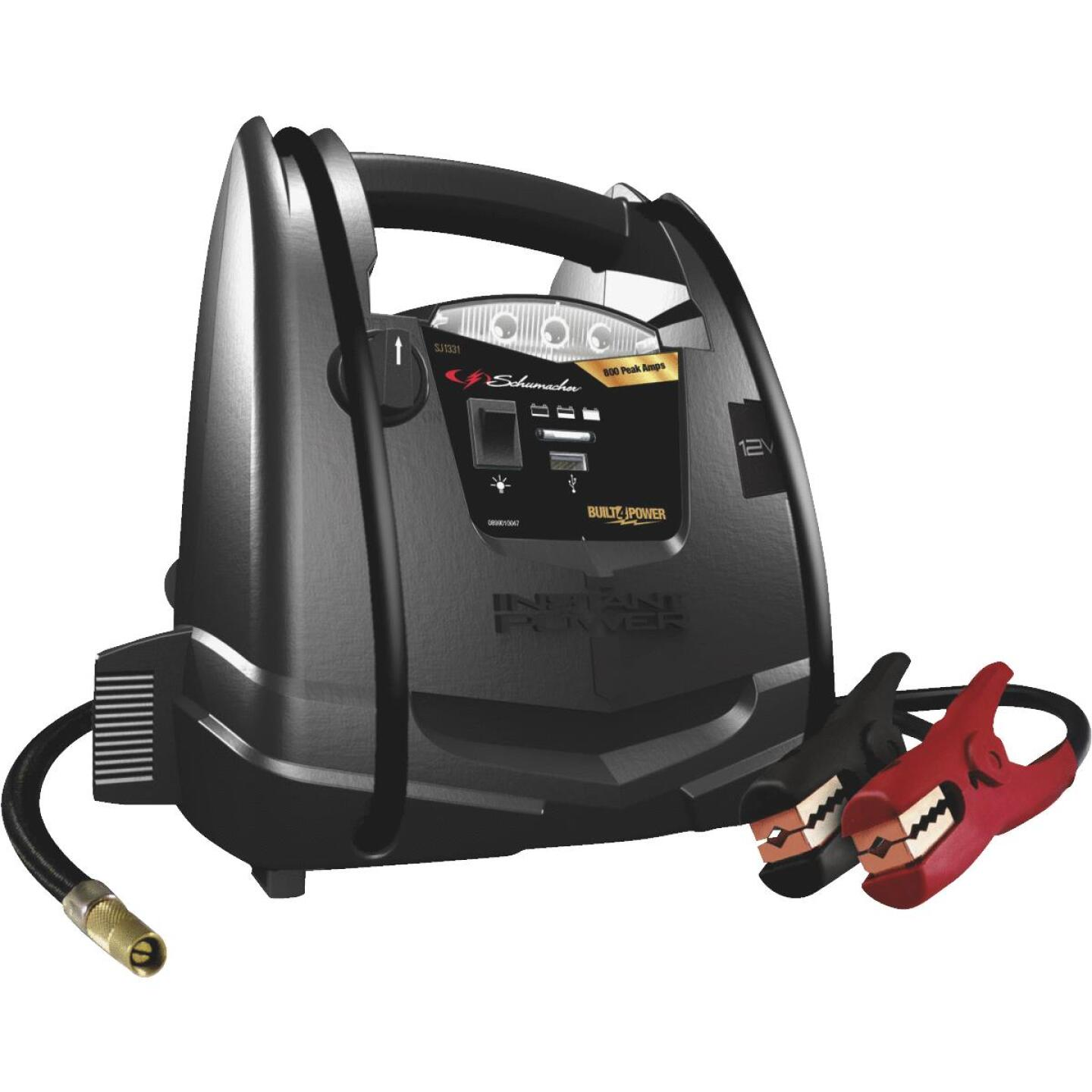 Schumacher 800A Jump Start System and Air Compressor Image 1