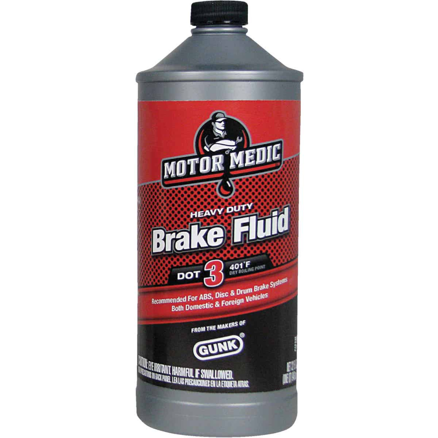 MotorMedic 32 Oz. Heavy-Duty DOT 3 Brake Fluid Image 1