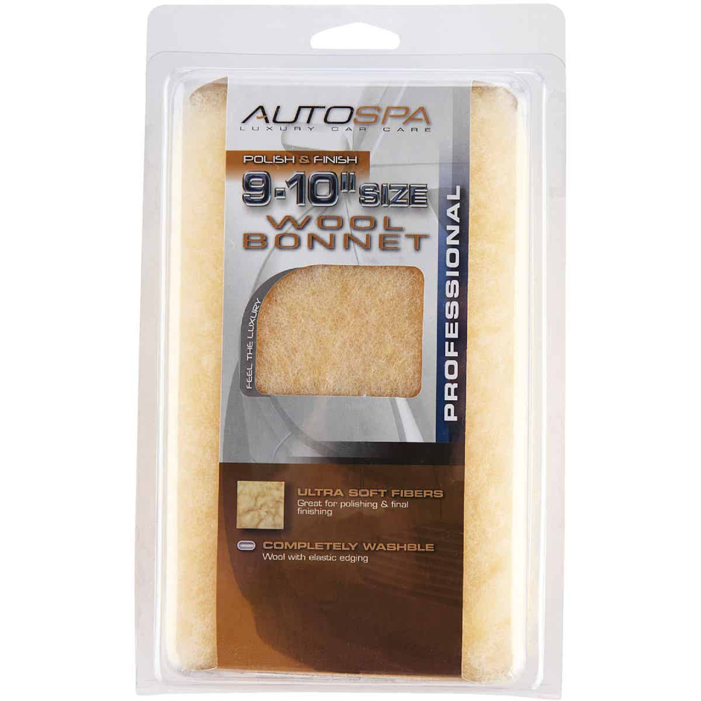 "Auto Spa 9"" To 10"" Washable Wool Polishing Bonnet Image 1"