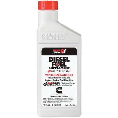 Power Service 16 Oz. Diesel Winterizer/Anti-Gel Fuel Supplement +Cetane Boost