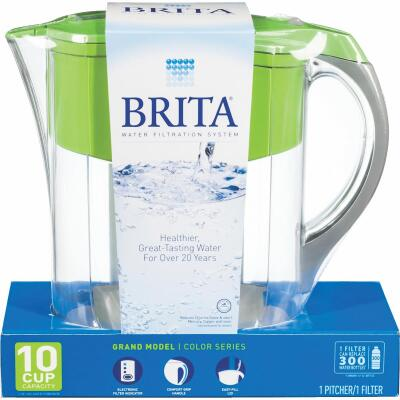 Brita Grand 10-Cup Water Filter Pitcher, Green