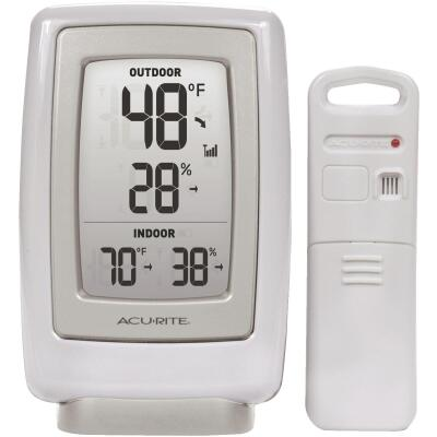 "Acurite 3-1/2"" W x 5-1/2"" H Plastic Wireless Indoor & Outdoor Thermometer"