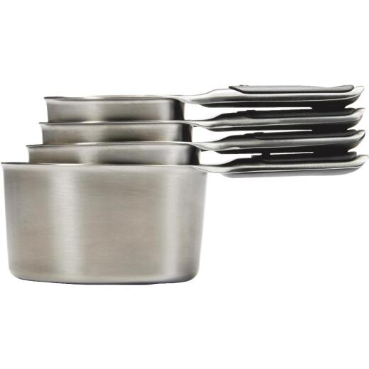 OXO Good Grips Stainless Steel Measuring Cup Set (4-Piece)