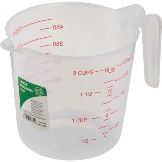 Smart Savers 2 Cup White Plastic Measuring Cup