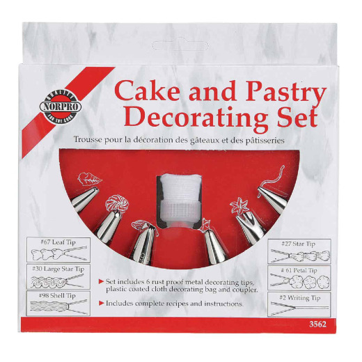 Norpro Pastry Bag Decorating Kit (6 Tips)
