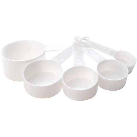 Norpro White Plastic Measuring Cup Set (5-Piece)