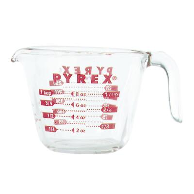 Pyrex Prepware 1 Cup Clear Glass Measuring Cup
