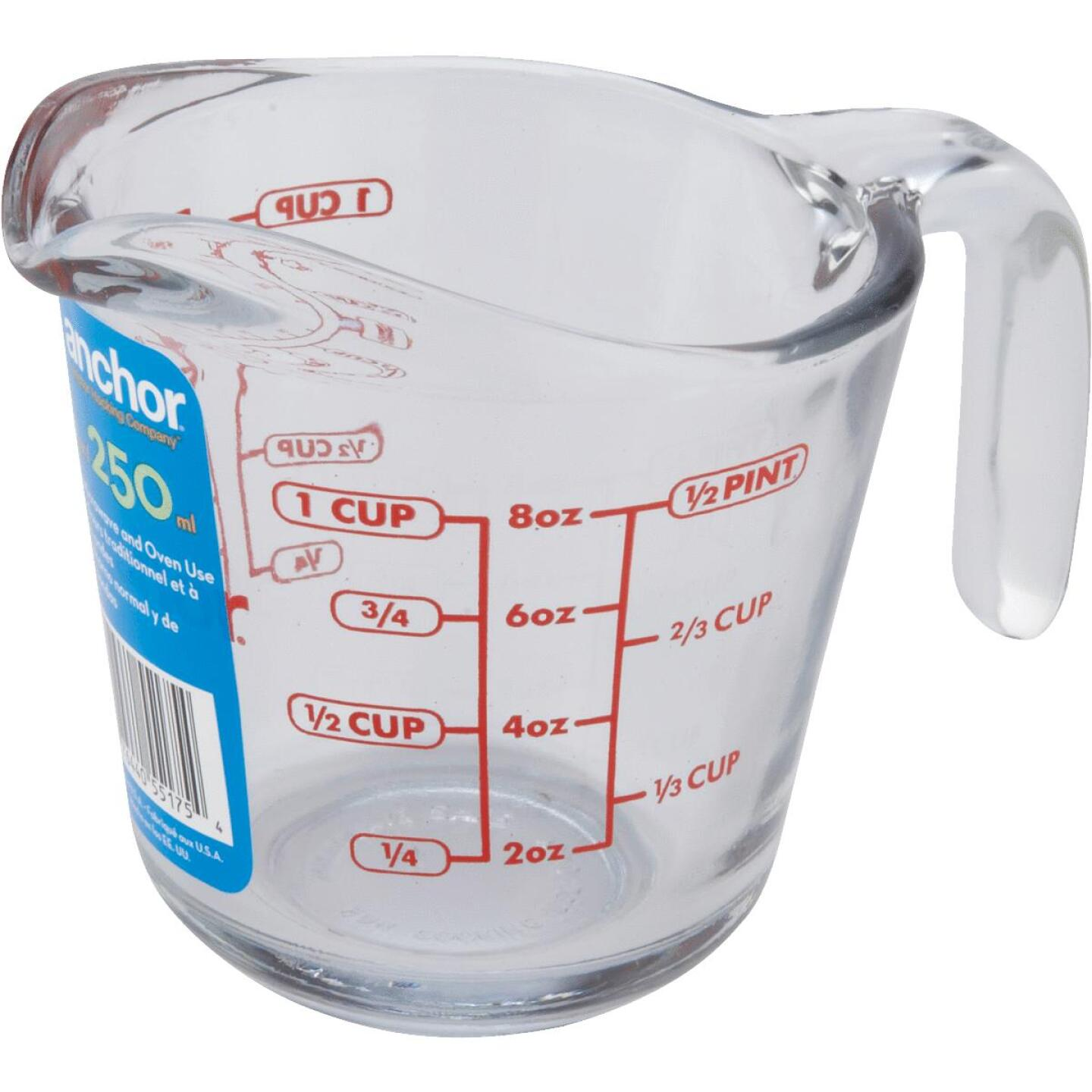 Anchor Hocking 8 Oz. Clear Glass Measuring Cup Image 2