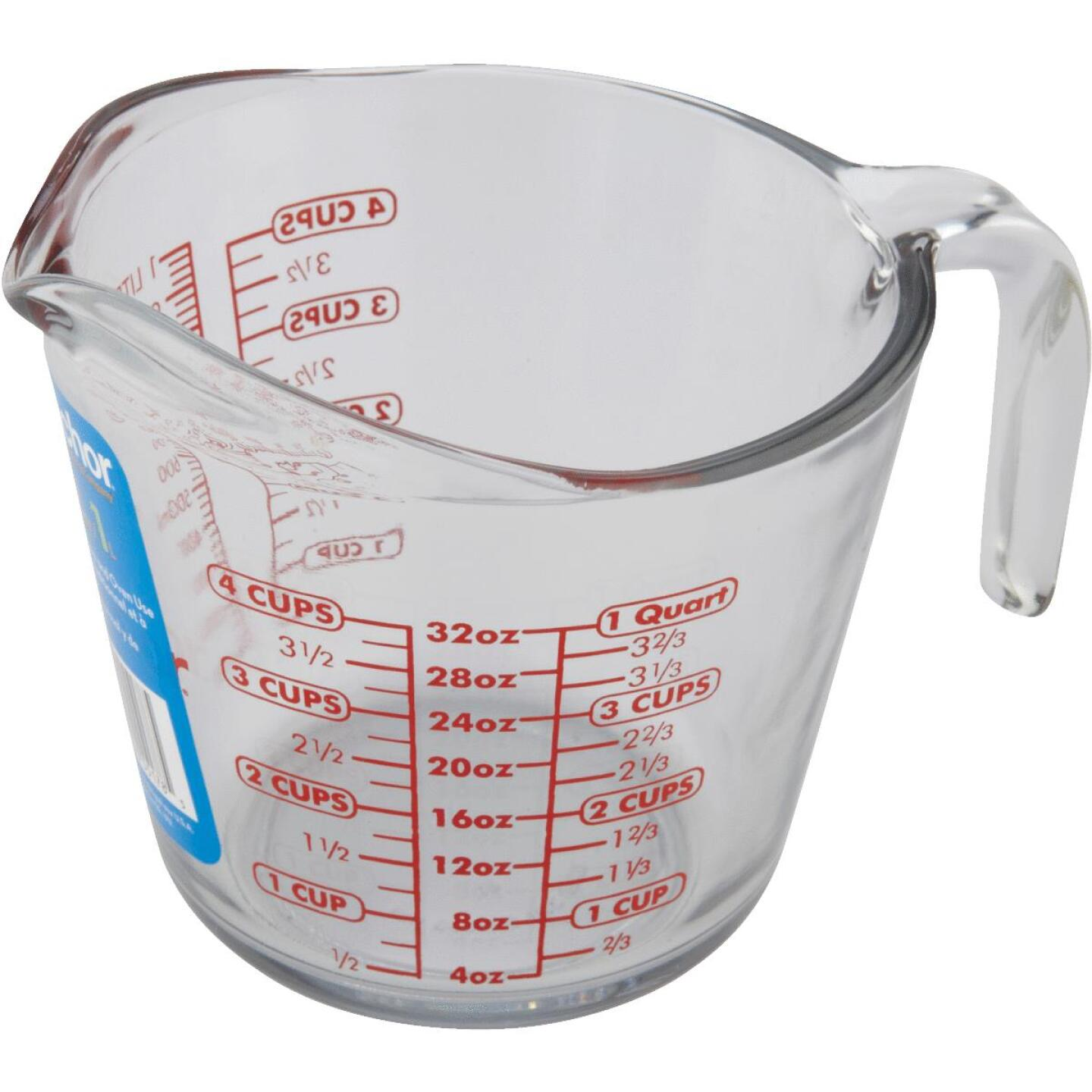 Anchor Hocking 32 Oz. Clear Glass Measuring Cup Image 2
