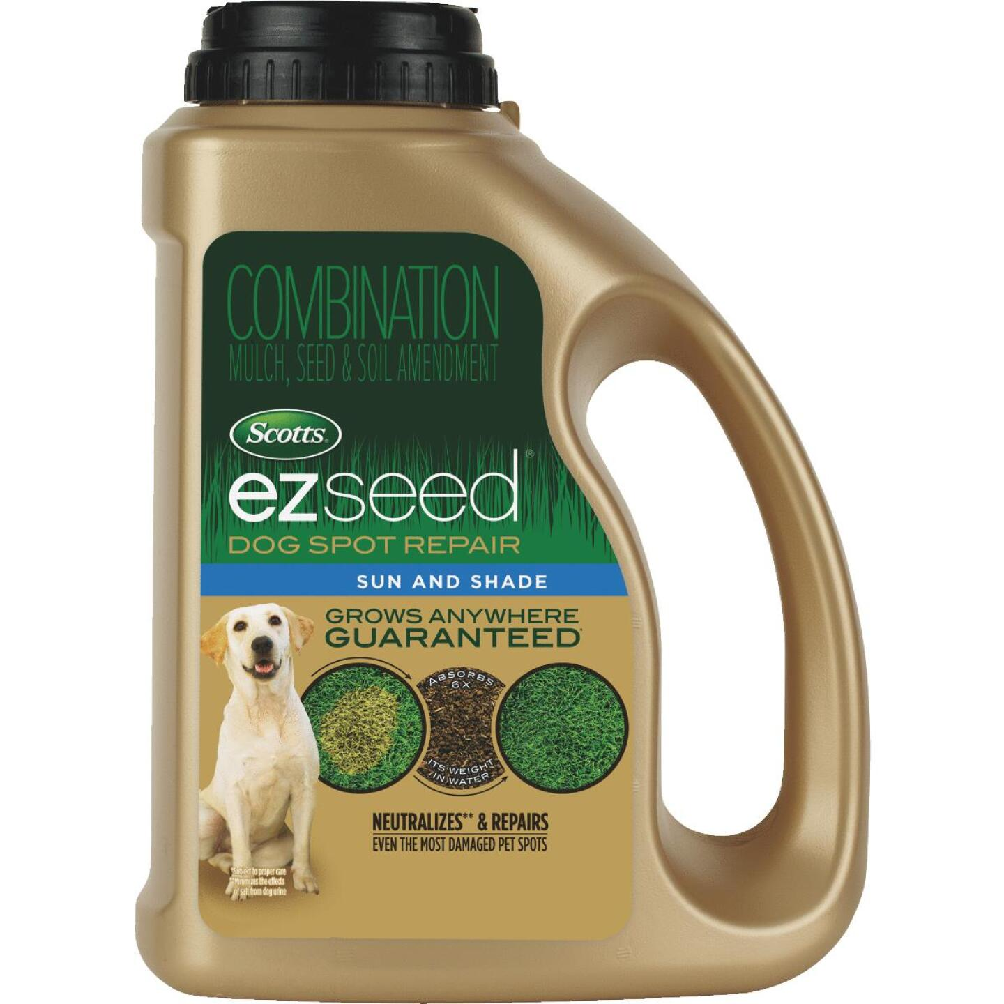 Scotts eZ Seed 2 Lb. Covers Up to 100 Dog Spots Sun & Shade Grass Patch & Repair Image 1
