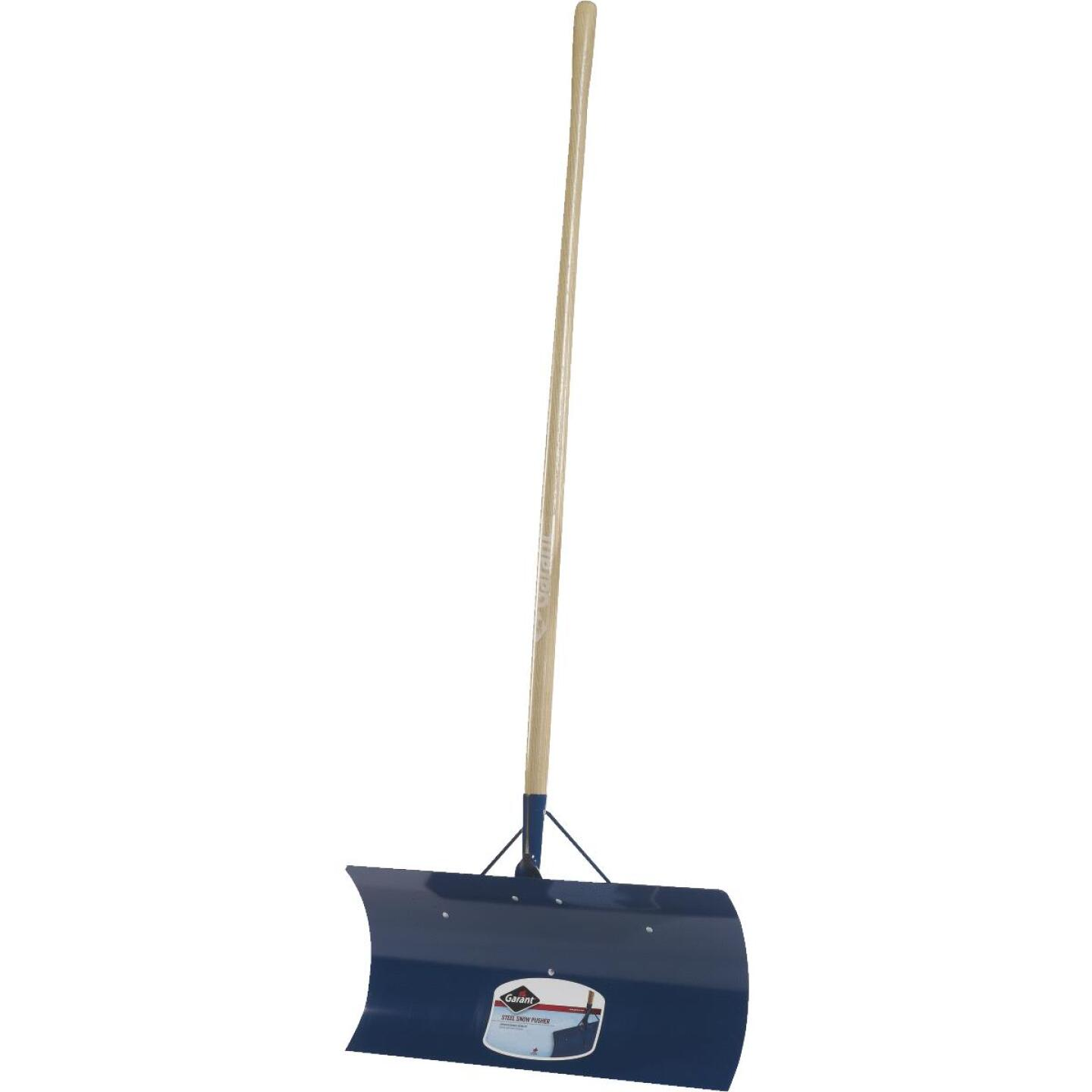 Garant Yukon 24 In. Steel Snow Pusher with 48 In. Wood Handle Image 1