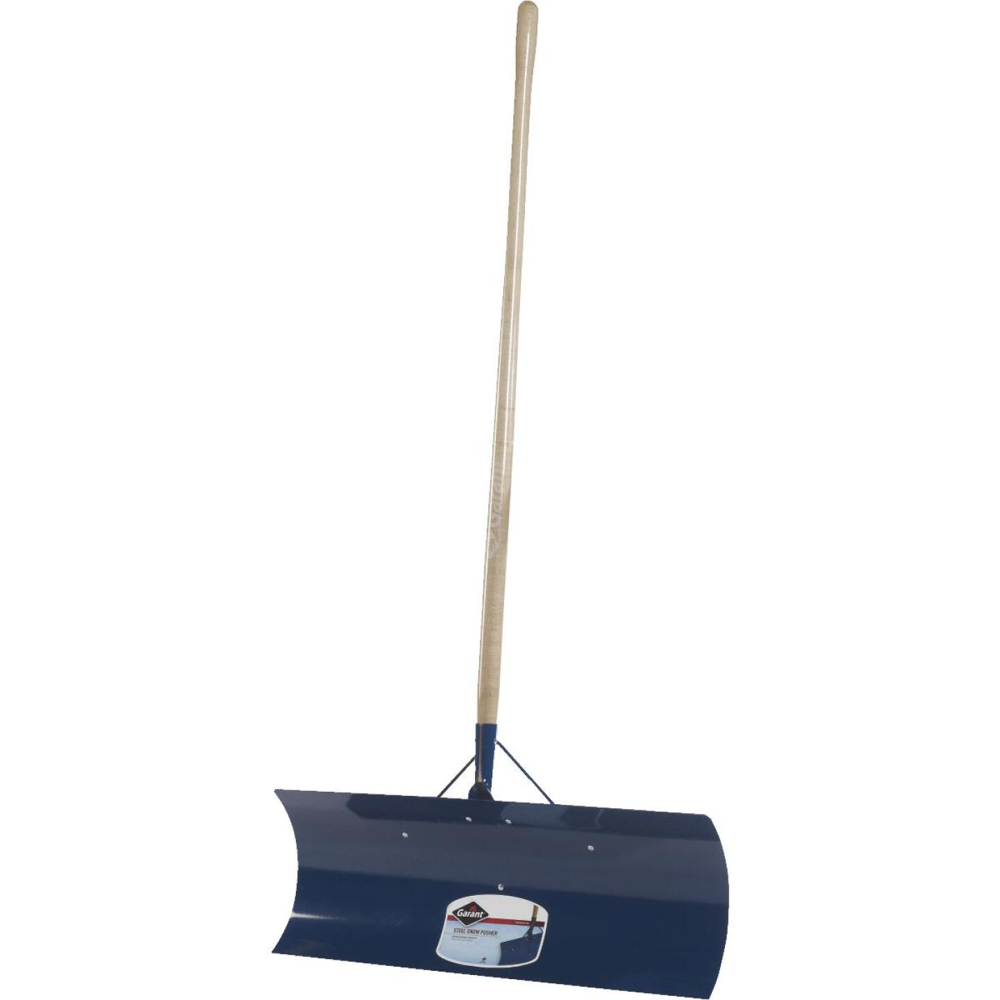 Garant Yukon 30 In. Steel Snow Pusher with 48 In. Wood Handle Image 1