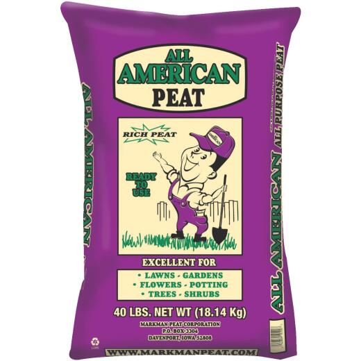 All American 40 Lb. 4 Sq. Ft. Organic Sphagnum Peat Moss