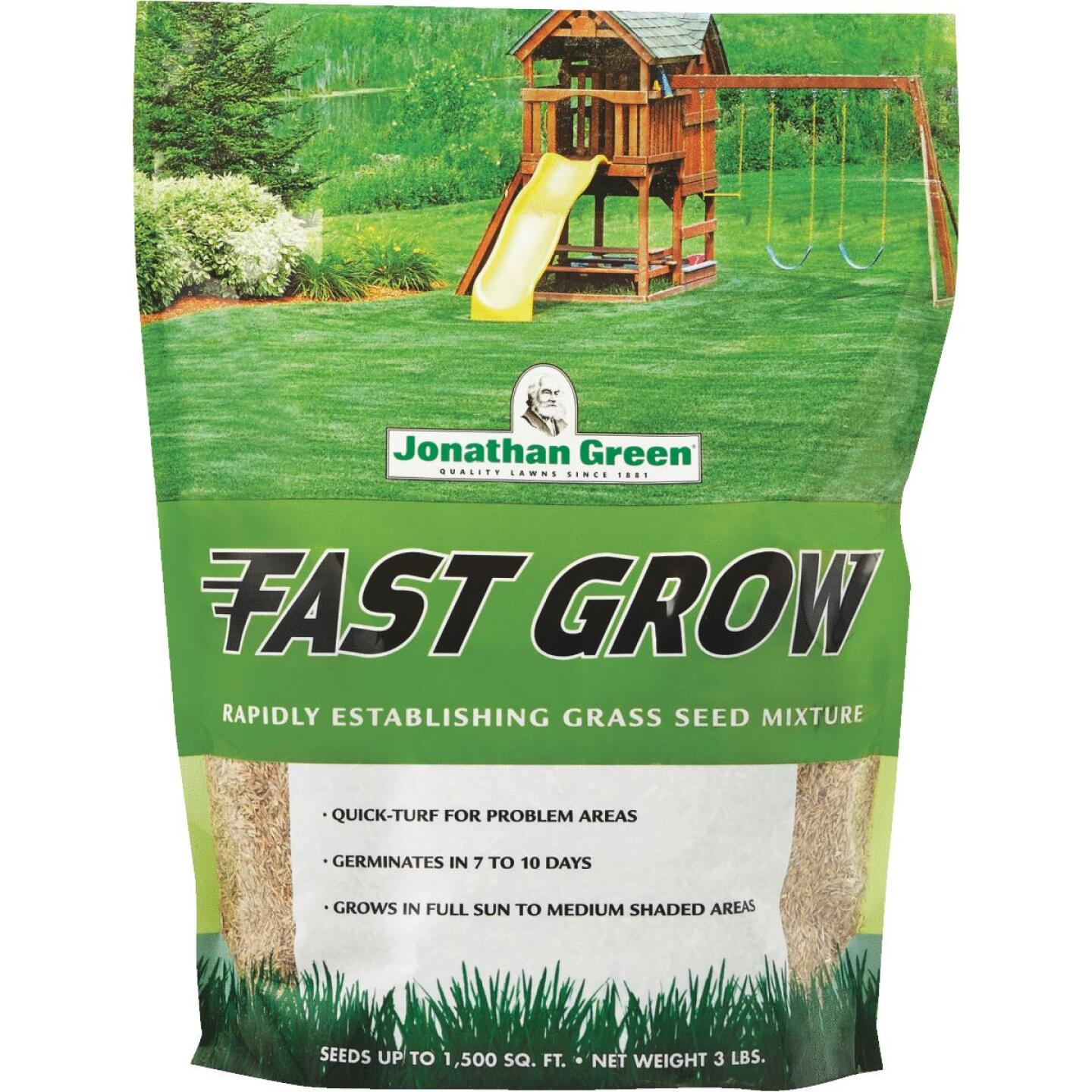 Jonathan Green Fast Grow 3 Lb. 750 Sq. Ft. Coverage Ryegrass & Fescue Grass Seed Image 1