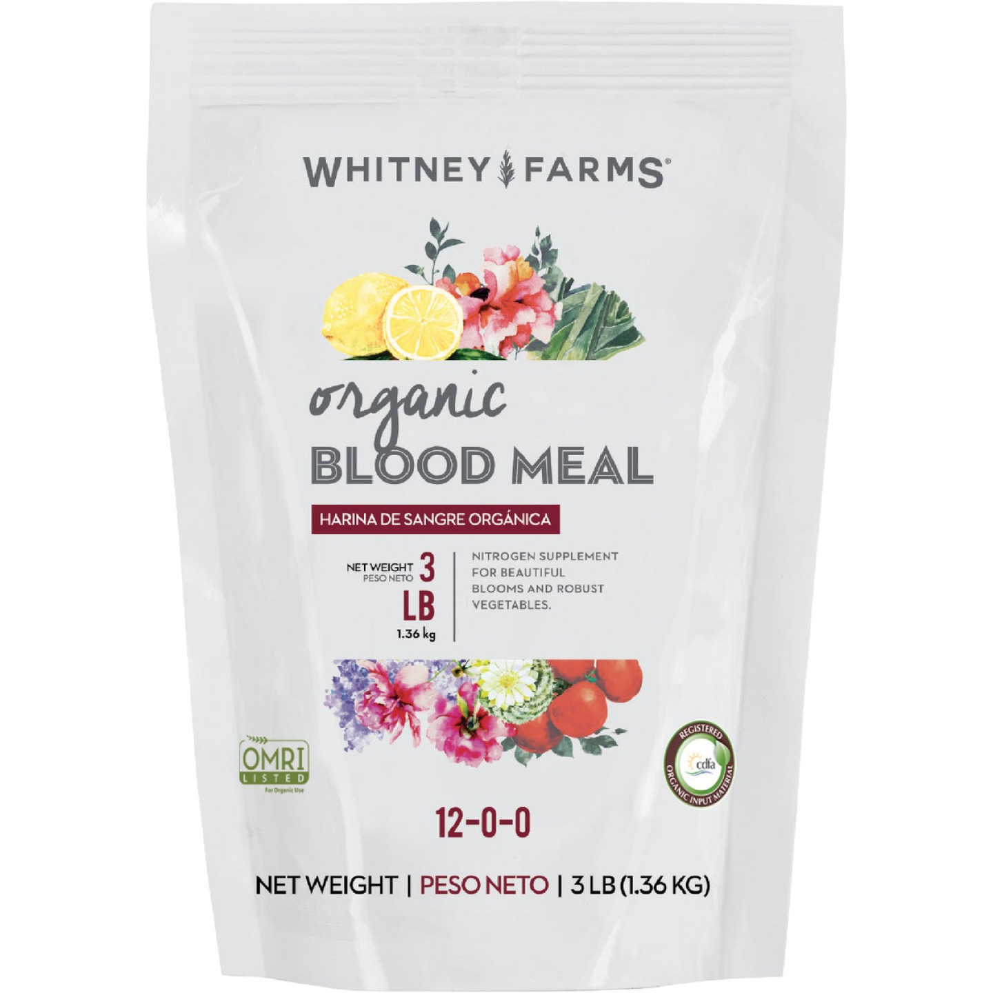 Whitney Farms 3 Lb. 12-0-0 Natural Blood Meal Image 1