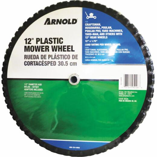 Arnold 12 In. Plastic Mower Wheel