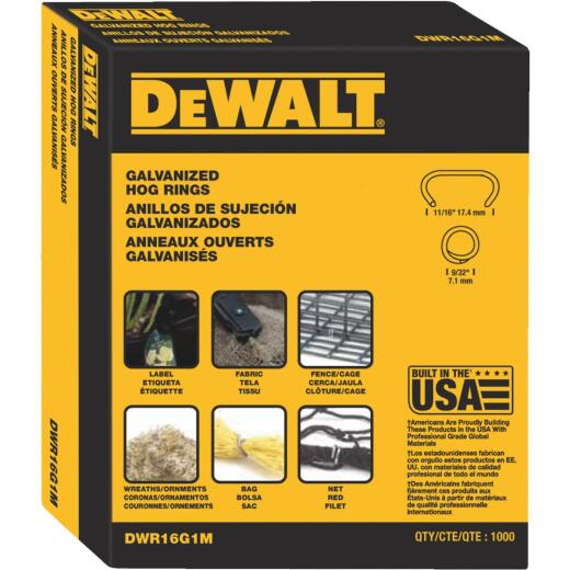 DeWalt Galvanized Steel Hog Ring (1000-Pack)