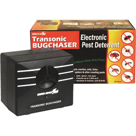 Bird X Transonic BugChaser Ultrasonic 1500 Sq. Ft. Coverage 110V Electronic Pest Repellent