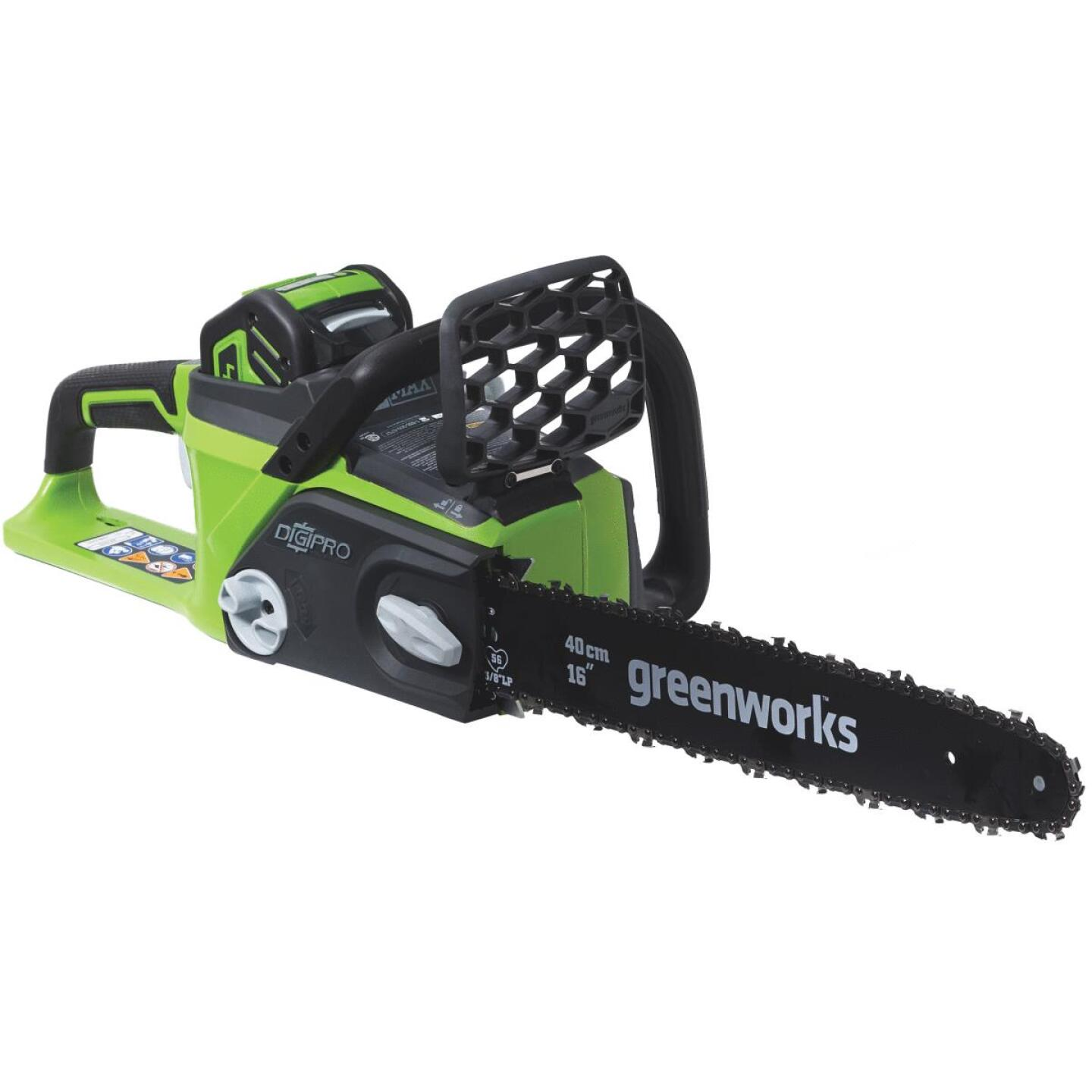 Greenworks G-MAX 16 In. 40V Lithium Ion Brushless Cordless Chainsaw Image 5