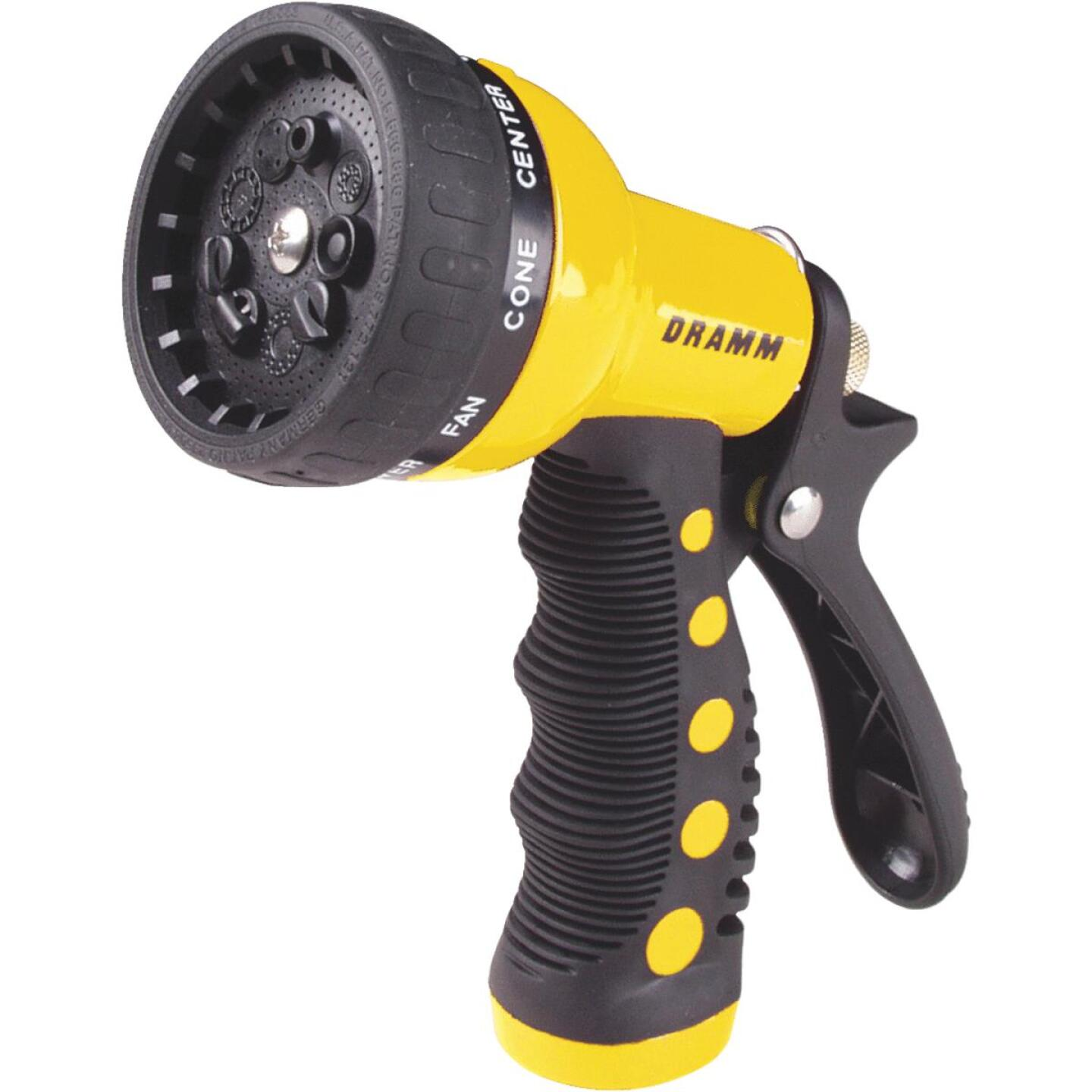 Dramm Heavy-Duty Metal 9-Pattern Nozzle, Yellow Image 1