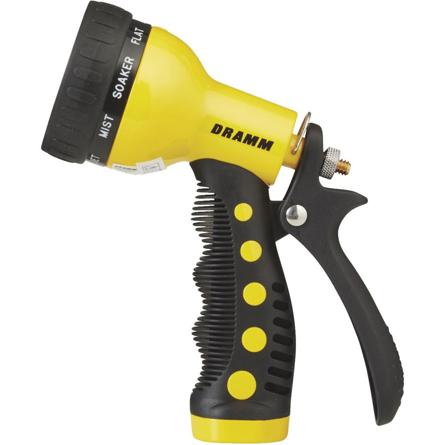 Dramm Heavy-Duty Metal 9-Pattern Nozzle, Yellow Image 2