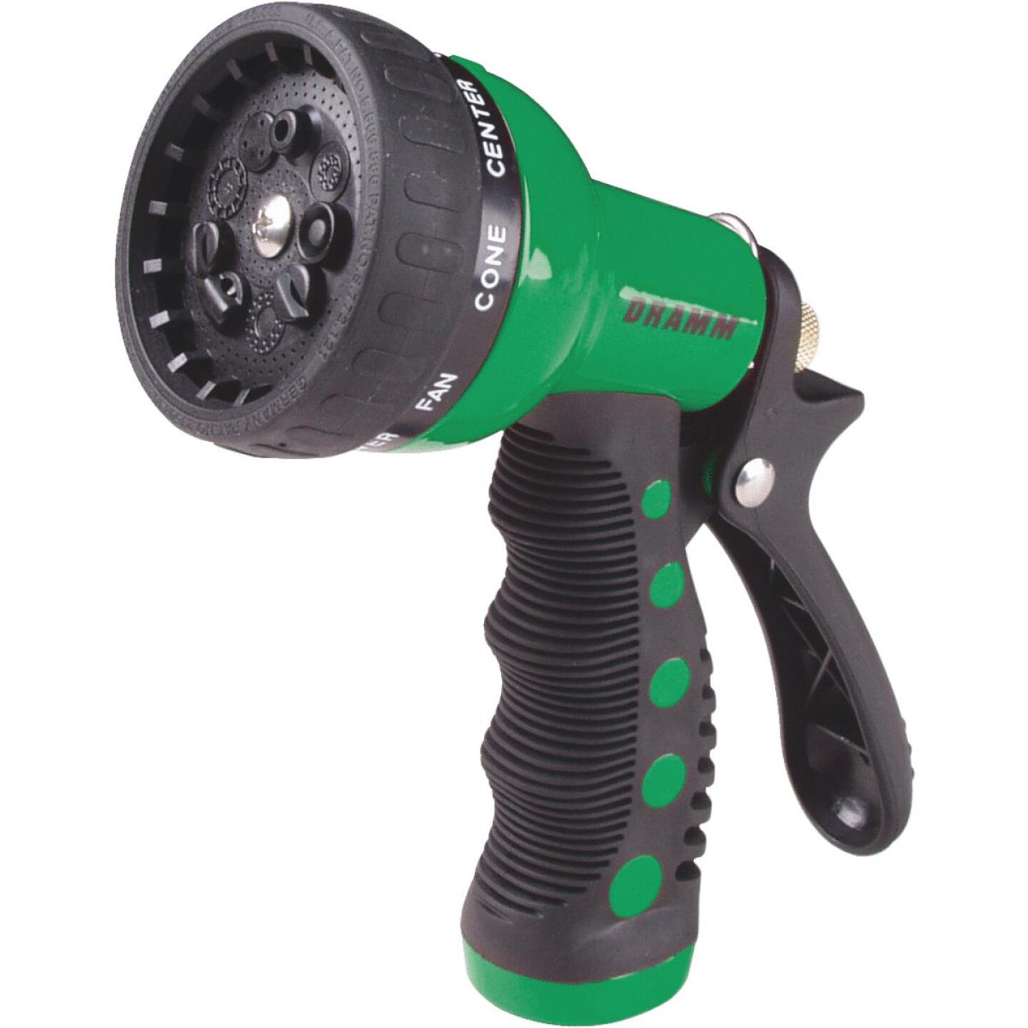 Dramm Heavy-Duty Metal 9-Pattern Nozzle, Green  Image 1