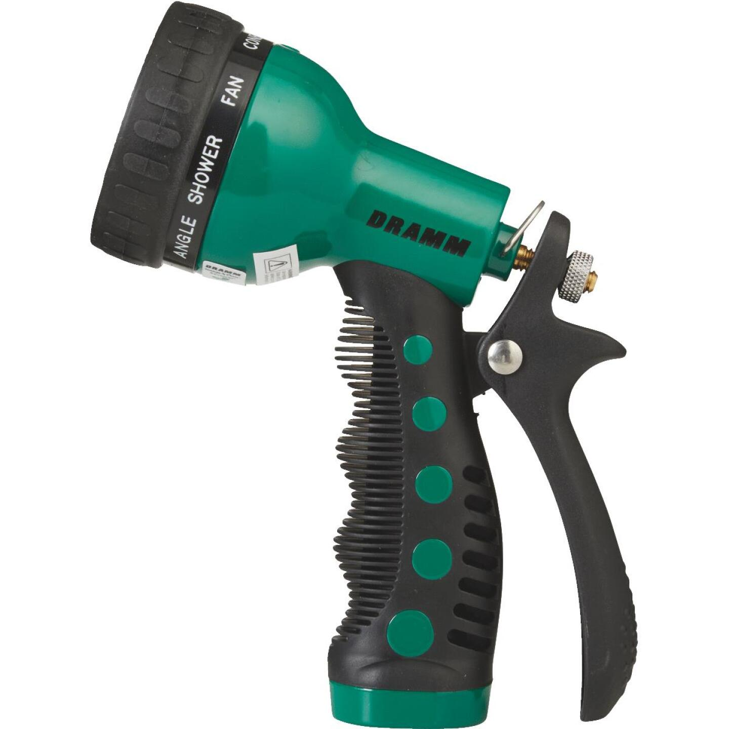 Dramm Heavy-Duty Metal 9-Pattern Nozzle, Green  Image 2