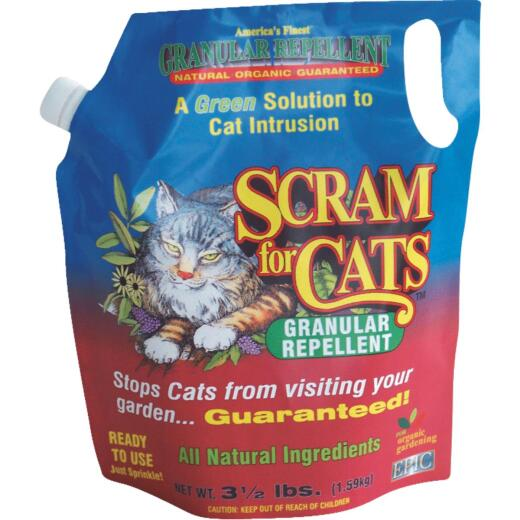 Scram For Cats 3.5 Lb. Granular Organic Animal Repellent
