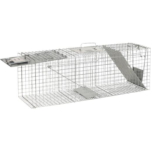 Havahart Galvanized Steel 36 In. 2-Door Large Animal Trap
