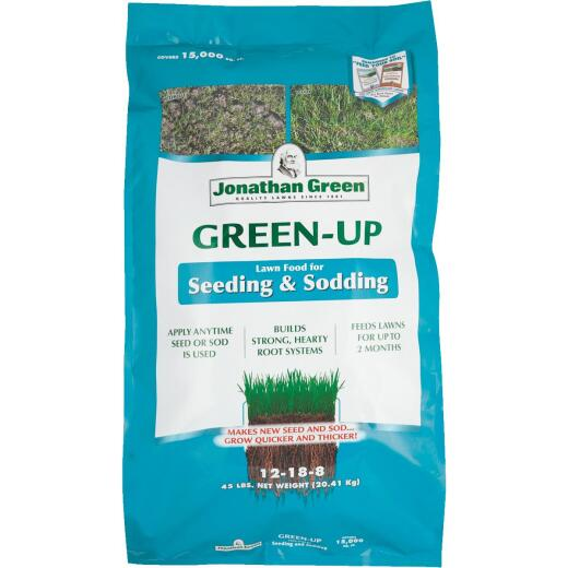 Jonathan Green Green-Up 45 Lb. 15,000 Sq. Ft. 12-18-8 Seeding & Sodding Lawn Fertilizer