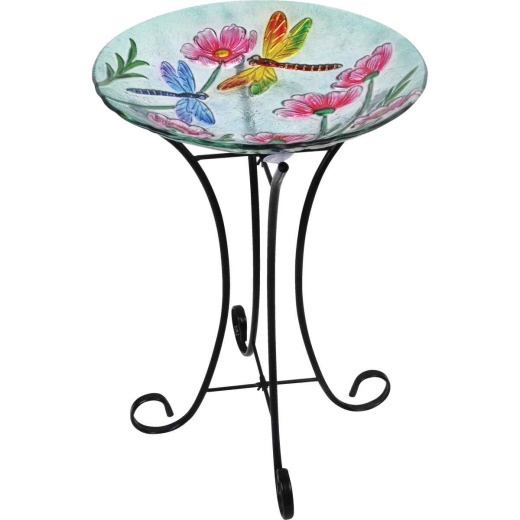 Best Garden Dragonfly & Flower Bird Bath