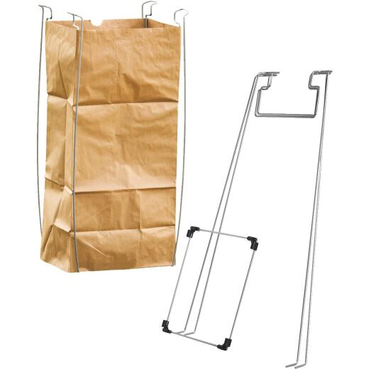 Bag Buddy 55 Gal. Plastic Bag/48 Gal. Paper Bag Capacity Wire Frame Lawn & Yard Bag Holder