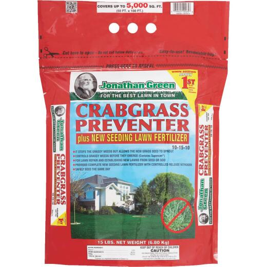 Jonathan Green 15 Lb. 5000 Sq. Ft. Lawn Fertilizer with Crabgrass Preventer
