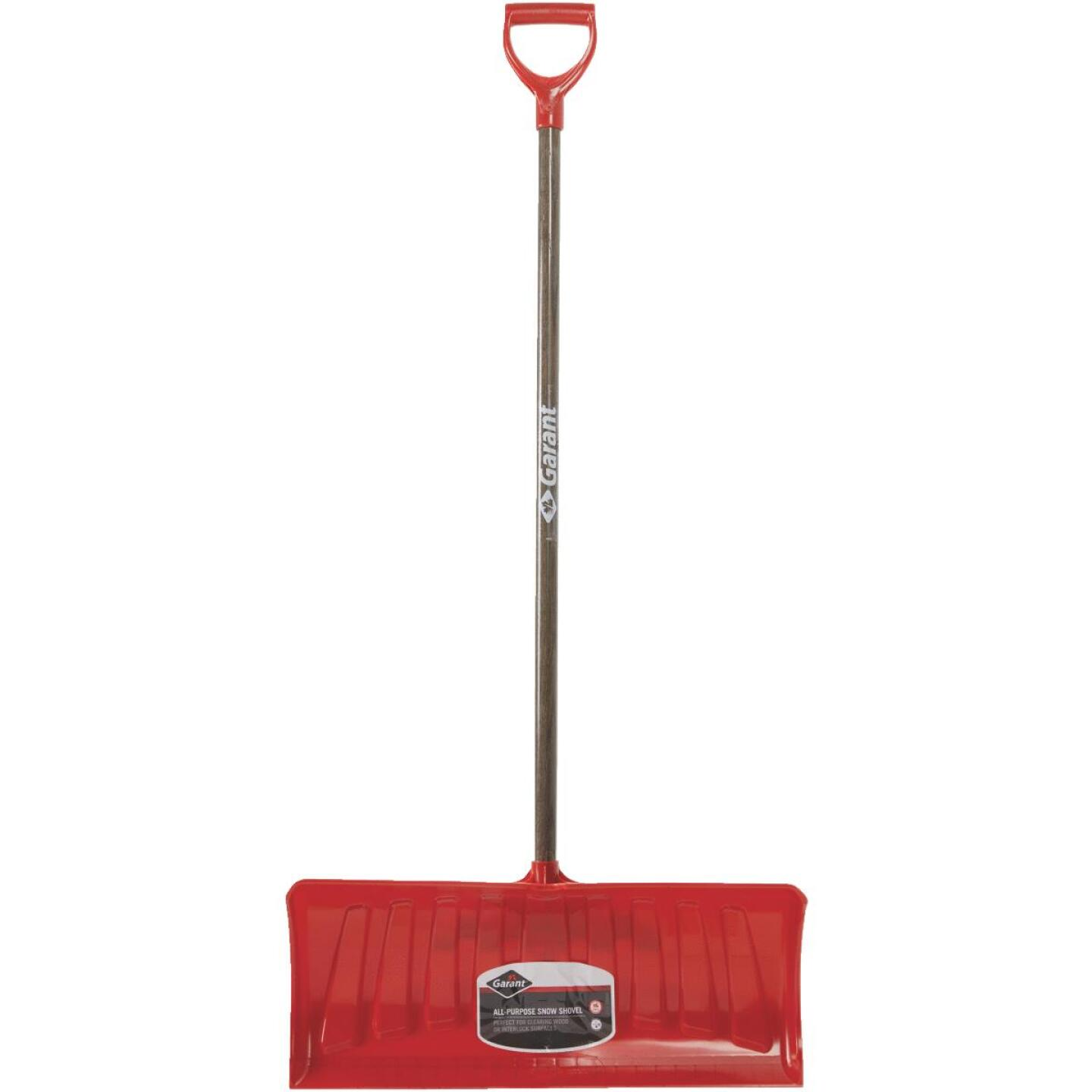 Garant Nordic 26 In. Poly Snow Pusher with 46.25 In. Wood Handle Image 3