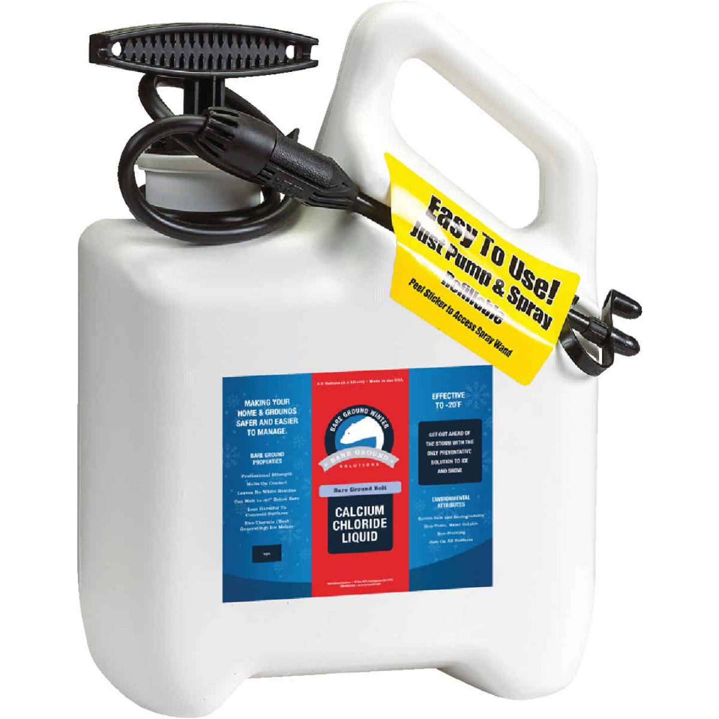 Bare Ground 1 Gal. Liquid Ice Melt System with Pump Sprayer Image 1