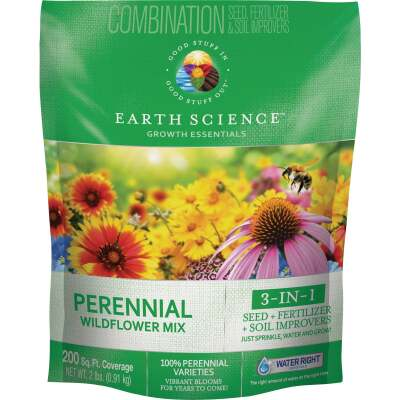 Earth Science  All-In-One 2 Lb. 200 Sq. Ft. Coverage Perennial Wildflower Seed Mix