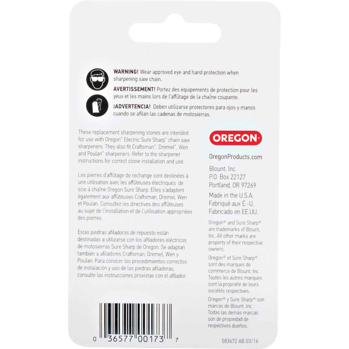 Oregon 7/32 In. Replacement Grinding Stones (3 Count) Image 2