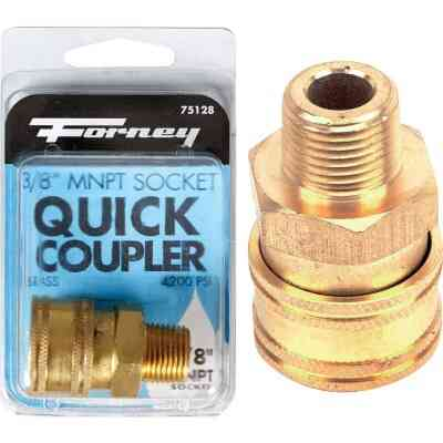 Forney 3/8 In. Male Quick Coupler Pressure Washer Socket