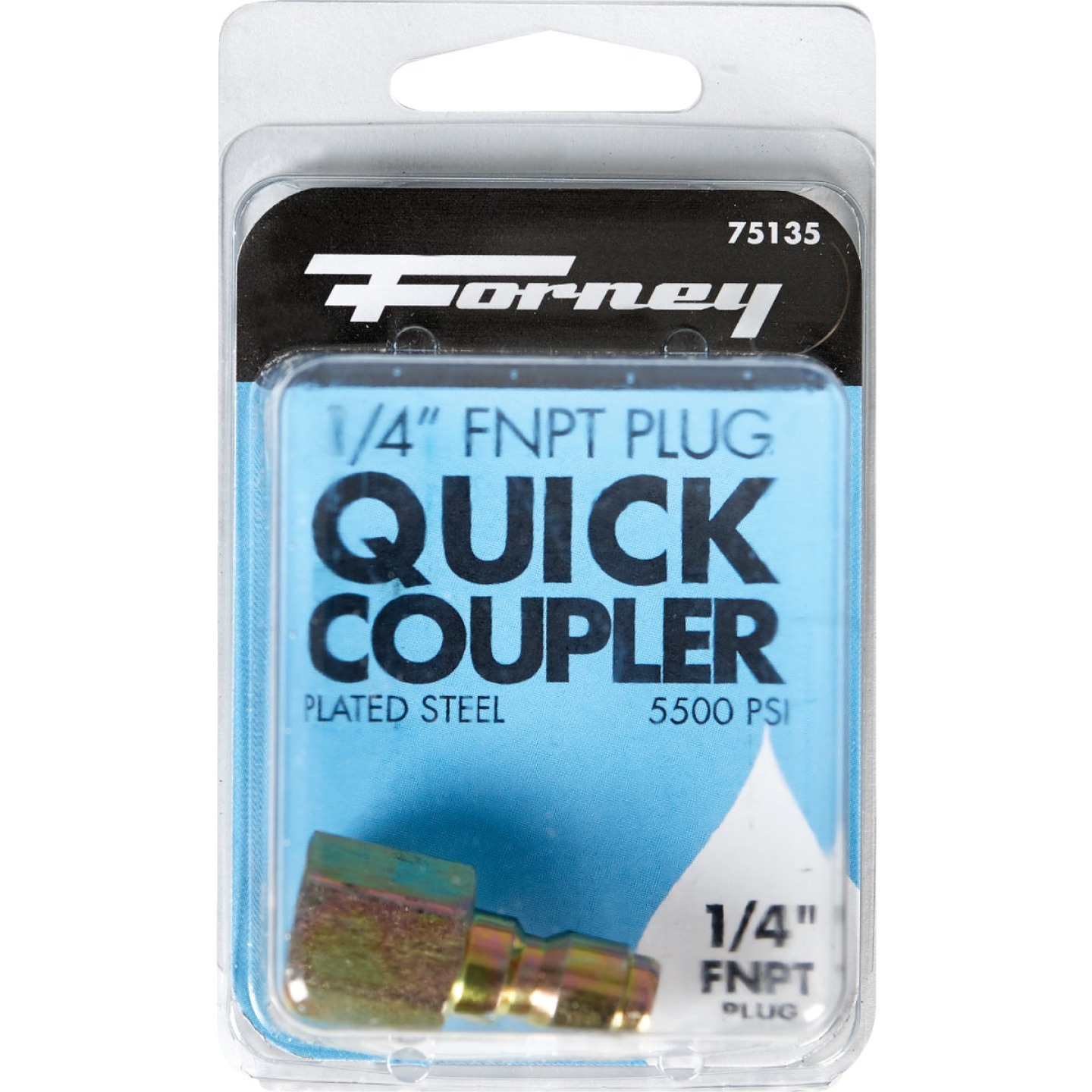 Forney 1/4 In. Female Quick Connect Pressure Washer Plug Image 2