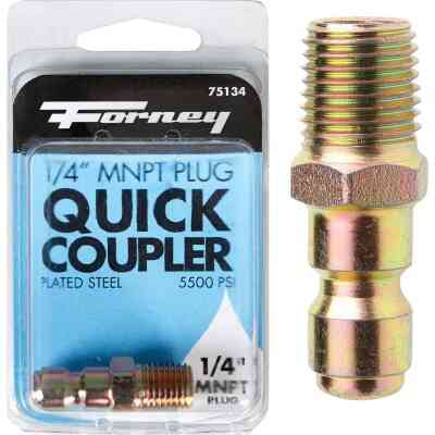 Forney 1/4 In. Male Quick Connect Pressure Washer Plug